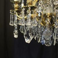 French Gilded Bronze & Crystal Antique Chandelier (10 of 10)
