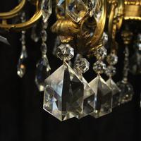 Italian Gilded & Crystal 15 Light Antique Chandelier (3 of 10)