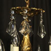 Italian Gilded & Crystal 15 Light Antique Chandelier (9 of 10)