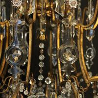 French Gilded & Crystal 15 Light Antique Chandelier (11 of 11)