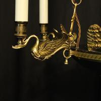 French Gilded Brass Empire 6 Light Chandelier (3 of 10)
