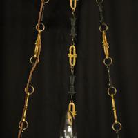 French Gilded Brass Empire 6 Light Chandelier (10 of 10)