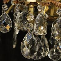 Italian Gilded Bronze & Crystal 12 Light Antique Chandelier (3 of 10)
