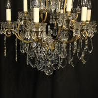 French Gilded & Crystal 10 Light Antique Chandelier (7 of 10)