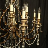 Italian Florentine 12 Light Polychrome Chandelier (2 of 10)