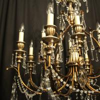Italian Florentine 12 Light Polychrome Chandelier (3 of 10)