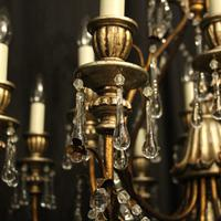 Italian Florentine 12 Light Polychrome Chandelier (4 of 10)