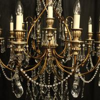 Italian Florentine 12 Light Polychrome Chandelier (5 of 10)
