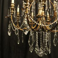 Italian Florentine 12 Light Polychrome Chandelier (7 of 10)
