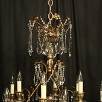 Italian Florentine 12 Light Polychrome Chandelier (8 of 10)