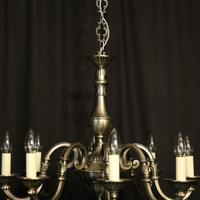 French Silver Gilded 8 Light Chandelier (5 of 10)
