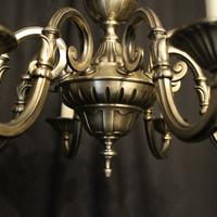 French Silver Gilded 8 Light Chandelier (10 of 10)