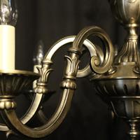 French Silver Gilded 8 Light Chandelier (3 of 10)