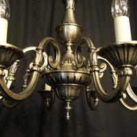 French Silver Gilded 8 Light Chandelier (7 of 10)