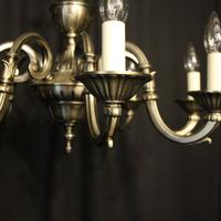 French Silver Gilded 8 Light Chandelier (9 of 10)