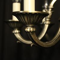 French Silver Gilded 8 Light Chandelier (8 of 10)