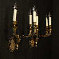 French Pair of Empire Antique Wall Lights (10 of 10)