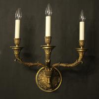 French Pair of Empire Antique Wall Lights (2 of 10)