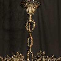 Italian 8 Light Gilded Bronze Antique Chandelier (10 of 10)