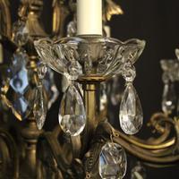 Italian 8 Light Gilded Bronze Antique Chandelier (7 of 10)