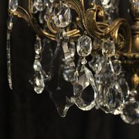 Italian 8 Light Gilded Bronze Antique Chandelier (4 of 10)