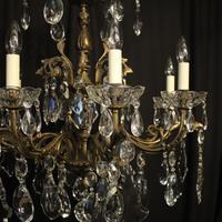 Italian 8 Light Gilded Bronze Antique Chandelier (2 of 10)