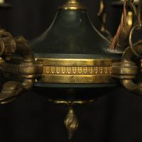 French Gilded Empire Six Light Chandelier (9 of 10)