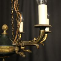 French Gilded Empire Six Light Chandelier (3 of 10)