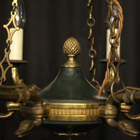 French Gilded Empire Six Light Chandelier (4 of 10)