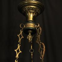 French Gilded Empire Six Light Chandelier (10 of 10)