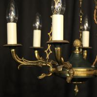 French Gilded Empire Six Light Chandelier (2 of 10)