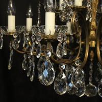 Italian Pair of 12 Light Antique Chandeliers (3 of 10)