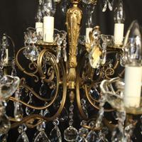Italian Pair of 12 Light Antique Chandeliers (9 of 10)