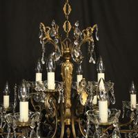 Italian Pair of 12 Light Antique Chandeliers (7 of 10)