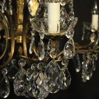 Italian Pair of 12 Light Antique Chandeliers (4 of 10)