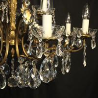 Italian Pair of 12 Light Antique Chandeliers (6 of 10)