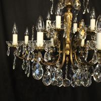 Italian Pair of 12 Light Antique Chandeliers (2 of 10)
