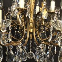 Italian Pair of 12 Light Antique Chandeliers (8 of 10)