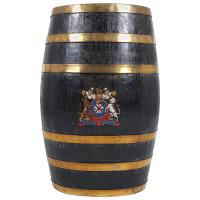 Victorian Oak & Brass Bound Barrel Stick Stand