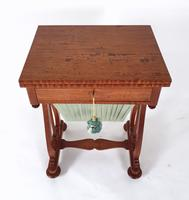 Early 19th Century Satinwood Games / Work Table with Folding Top (10 of 11)