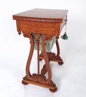 Early 19th Century Satinwood Games / Work Table with Folding Top (9 of 11)