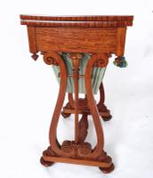 Early 19th Century Satinwood Games / Work Table with Folding Top (8 of 11)