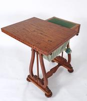 Early 19th Century Satinwood Games / Work Table with Folding Top (7 of 11)