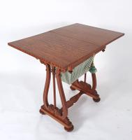 Early 19th Century Satinwood Games / Work Table with Folding Top (6 of 11)