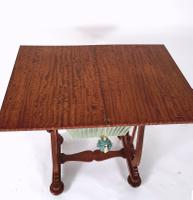 Early 19th Century Satinwood Games / Work Table with Folding Top (5 of 11)