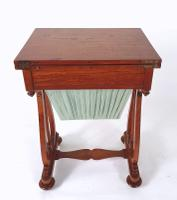 Early 19th Century Satinwood Games / Work Table with Folding Top (2 of 11)