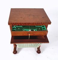 Early 19th Century Satinwood Games / Work Table with Folding Top (4 of 11)