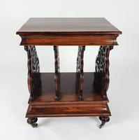 Victorian Rosewood Canterbury Whatnot