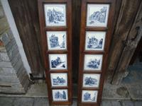 Pair of Frames Containing 10 Minton Tiles