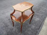 French Ormolu Mounted Etagere with Kingwood Banding & Satinwood Marquetry Panels